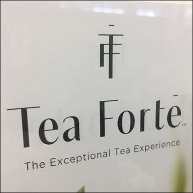 Tea Forte Exceptional Tea Acrylic Sign