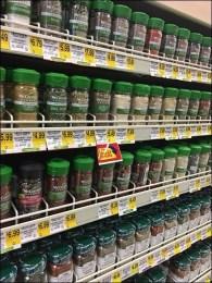 McCormick Gravity Feed Wood Spice Rack