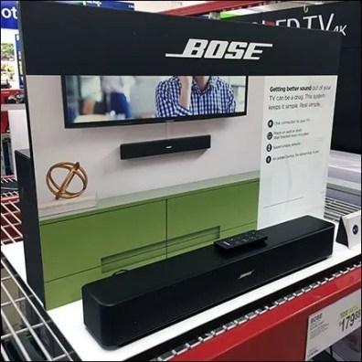 Bose Bar Speaker Pallet Rack Display
