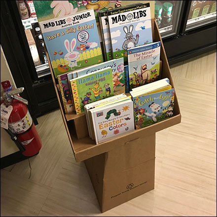 Hopping Good Easter Books Pedestal Display Feature2