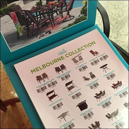 In-Store Catalog for Melbourne Patio Furniture Feature
