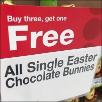 Easter Bunny BOGO, Buy Three Get One Free