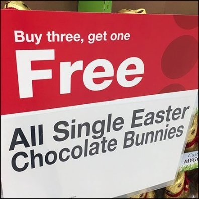 Easter Bunny BOGO, Buy Three Get One Free