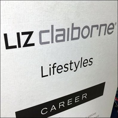 Liz Claiborne Lifestyles Apparel Floorstanding Sign