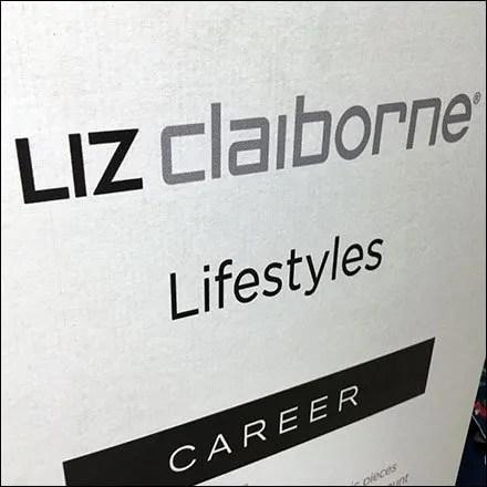 Liz Claiborne Lifestyles Apparel Floorstanding Sign