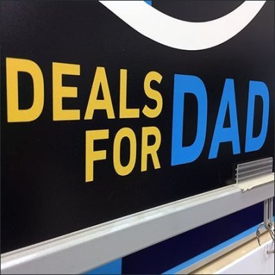 Deals for Dad Giant Wrench Silhouette Sign