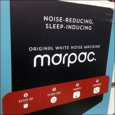 Marpac White-Noise Sleep Machine Display