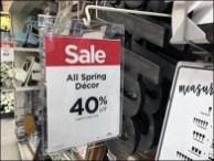 Michaels Spring Decor Sale Sign Stutter 3
