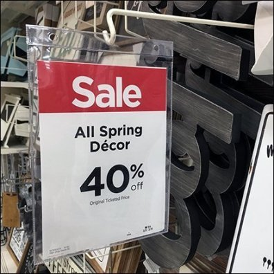 Spring Decor Sale Sign Redundancy