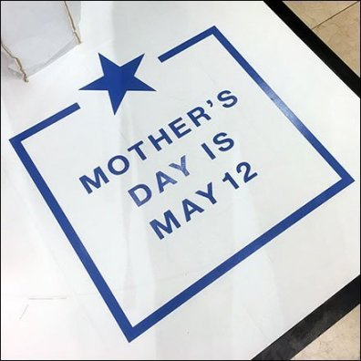 Mother's Day Floor Graphic Defined