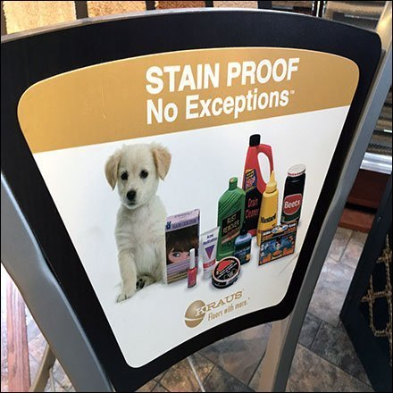 No Exceptions Stain Proof Flooring Samples