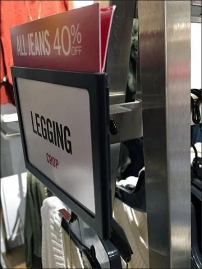 Rack End Sign Holder For Hangrail Live