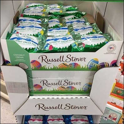 Russell Stover Easter Egg Corrugated Tower Main3