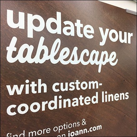 End-of-Aisle Sign Triplets Update Your Tablescape