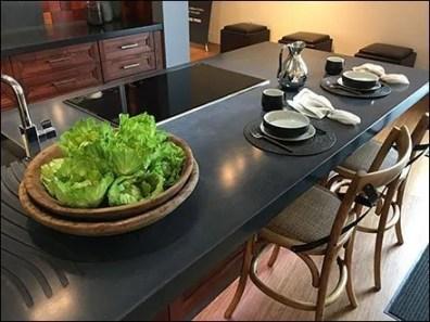 Fresh Salad Greens Prop Showroom Kitchen