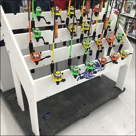 Tsunami Fishing Pole Pallet Display Feature