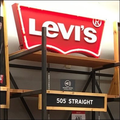 Levi's Logo Department Signage