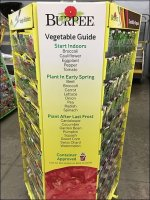 Burpee Seed Vegetable Guide Helpfully Built-In