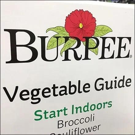 Burpee Seed Vegetable Guide Helpfully Built-In