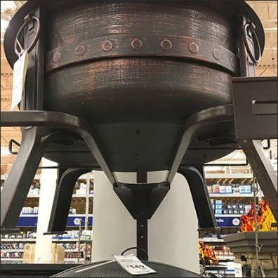 Freestanding Firepit Tiered Tower Display