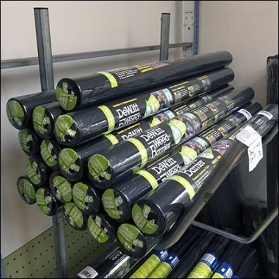 Weed Barrier Roll Angled Arm Rack