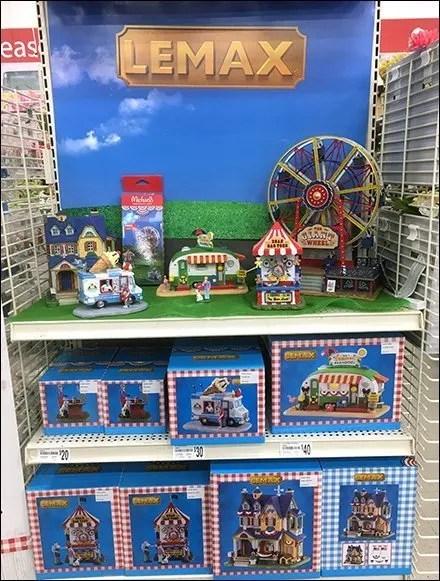 Lemax Summer Fun Village Endcap Display