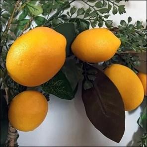 Bright Yellow Lemon Wreath Merchandising