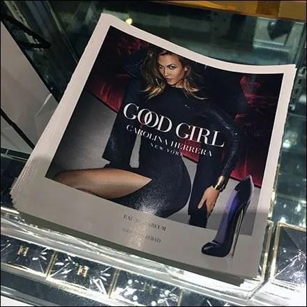 Macys Carolina Herrera Good Girl Countertop Display Aux