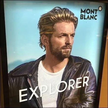 Manly Montblanc Explorer Countertop Display