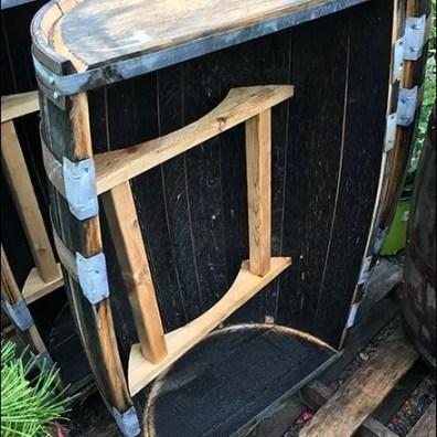 Outdoor Barrel Bar Merchandising Aux