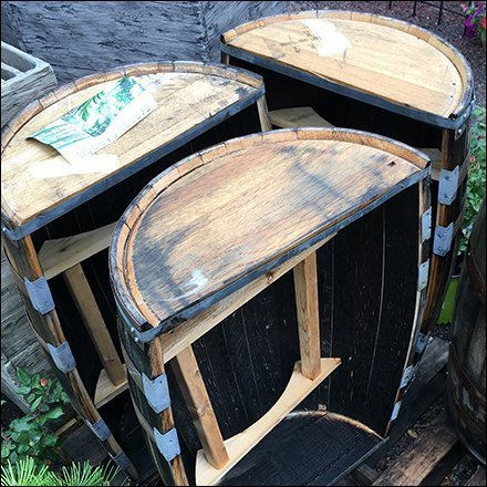 Outdoor Bar Barrel Pallet Merchandising