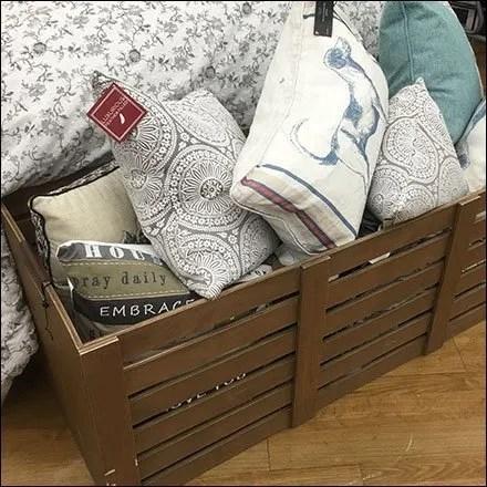 Wood Bulk Bin Pillow Merchandising