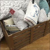 Wood Bulk Bin Pillow Merchandising