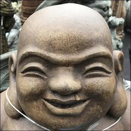 Sitting Hoi Toi Or Smiling Buddha Statuary Aux