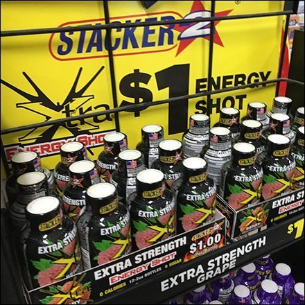 Stacker Energy Shot PowerWing Merchandiser