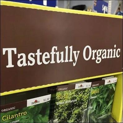 Tastefully Organic Burpee Seeds Positioning Tagline