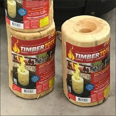 TimberTote Portable One-Log Campfire