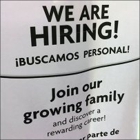 We Are Hiring In-Store Informal Flyer Campaign