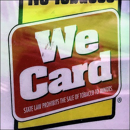 We Card Tobacco Purchasers Warning Sign