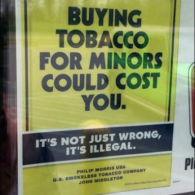 We Card Tobacco Purchasers Warning Sign Main2