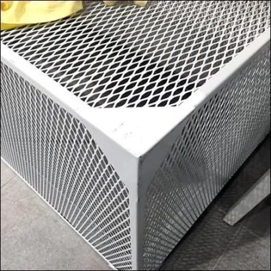 White Expanded Metal Display Base