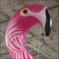 Ceiling-Mount Flying Flamingo Inflatable