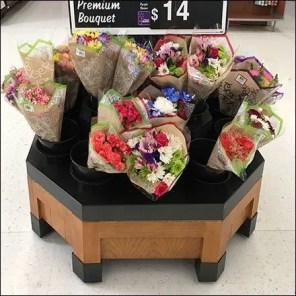 Floral Bouquet Octagon Island Display