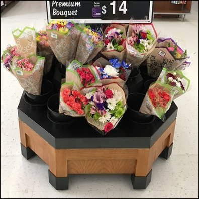 Floral Bouquet Octagon Island Display