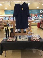 Grocery Cap-And-Gown Visual Merchandising