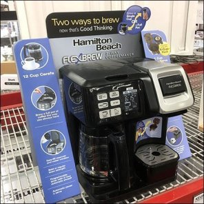 Hamilton Beach Coffee Maker Square-Base Display