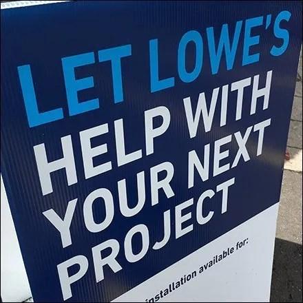 Home-Improvement Checklist Sidewalk Sign