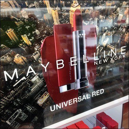 Maybelline Cosmetics Displays - Maybelline Merchandises Universal Red Line