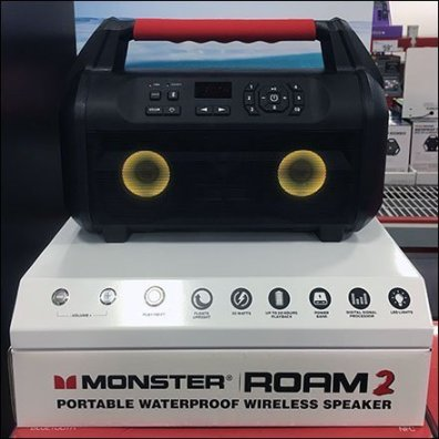 Monster Speaker Demonstration Try-Me Controls