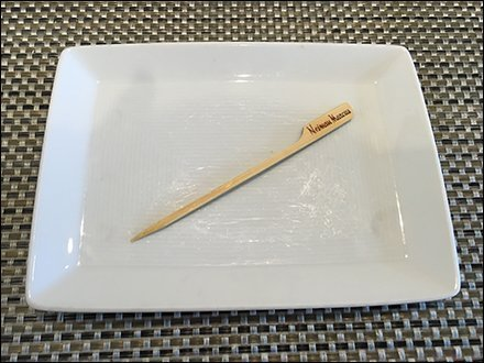 Toothbrush Merchandising / Toothpick Merchandising - Nieman Marcus Branded Toothpick For Lunch